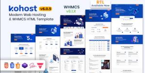 Kohost – Modern Web Hosting & WHMCS Template coderog