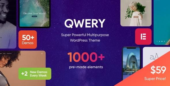 Qwery Multi Purpose Business WordPress Theme Nulled Coderog